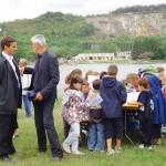 Les élus, représentants de la Ville de Dijon et les jeunes acteurs