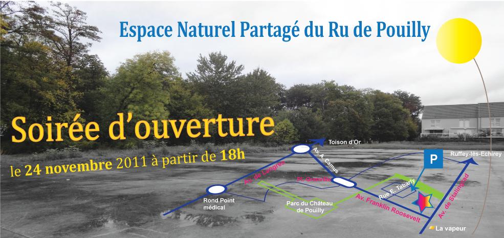 Invitation soirée d'ouverture Espace Naturel Partagé