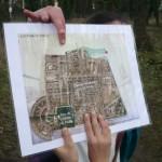 Localisation des quartiers actuels sur l'ancien plan