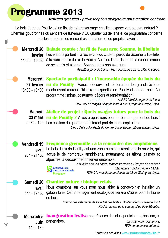 Programme d'activité 2013