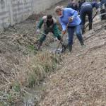 Une équipe s'attaque au nettoyage du ru.