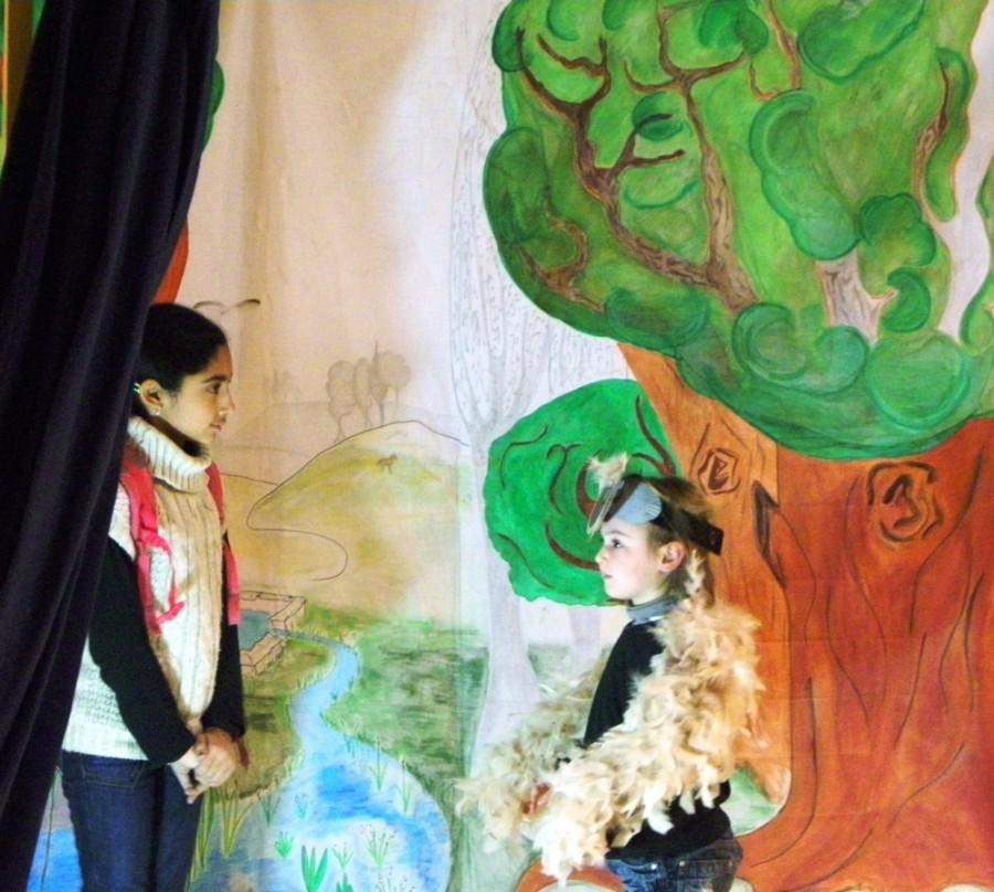 Jo et la chouette dans la bois du ru de Pouilly
