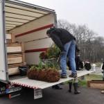 Les boudins végétalisés sont prêts à être installés.